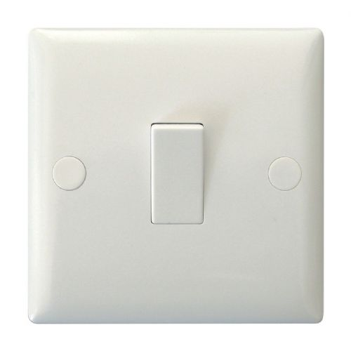 Varilight XO0W Value Polar White 1 Gang 10A 1 Way Rocker Light Switch